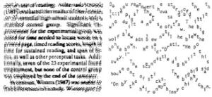 wazig en bewegende letters