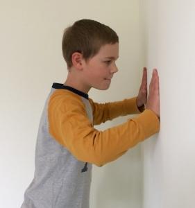 De invloed van primaire reflexen de Hand Steun Reflex_positie